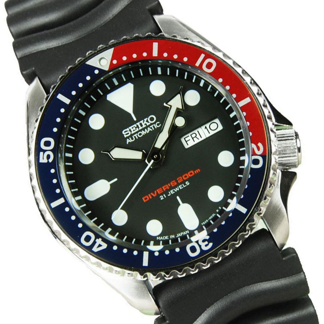 Seiko sk009j skx009k1 skx009j1 snzf15k1 divers watch ebay - Seiko dive watch history ...