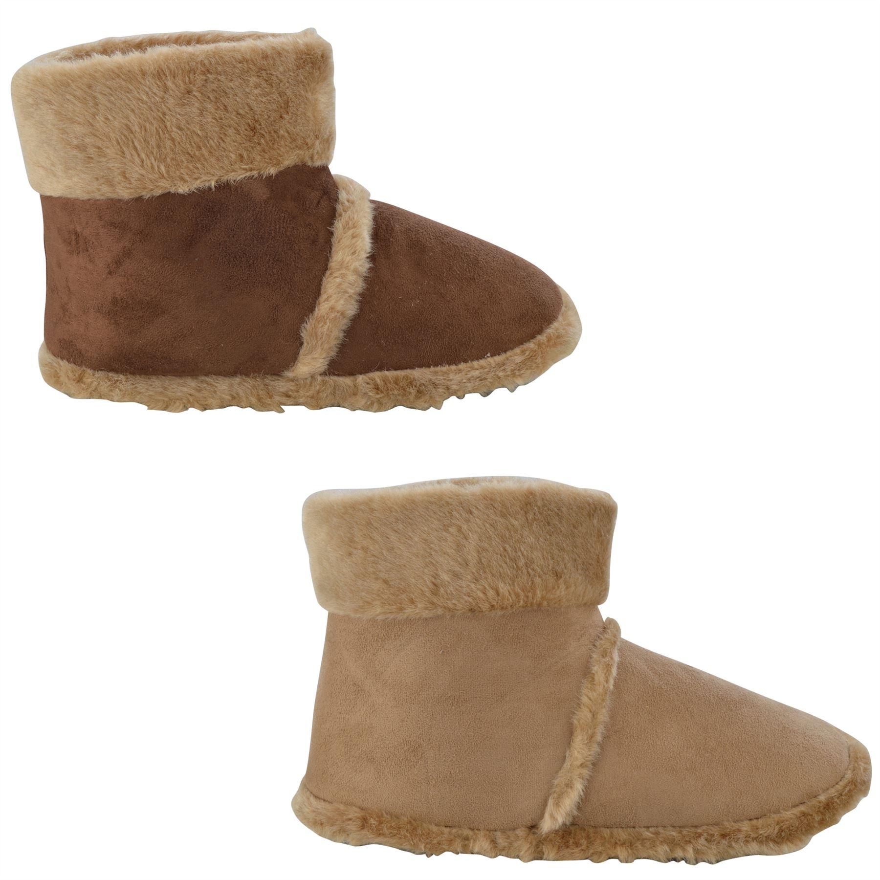 mens quot alan quot faux suede fleece lined rubber sole slippers