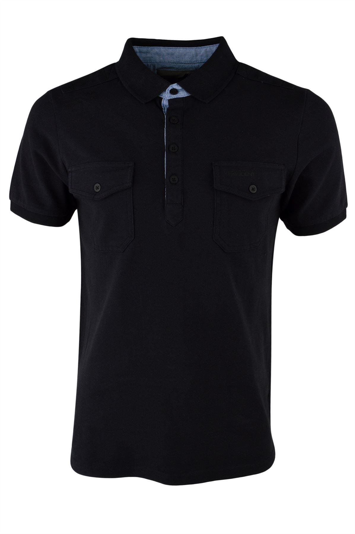 Dissident men 39 s zenith 2 pocket pique polo shirt ebay for Men s cotton polo shirts with pocket