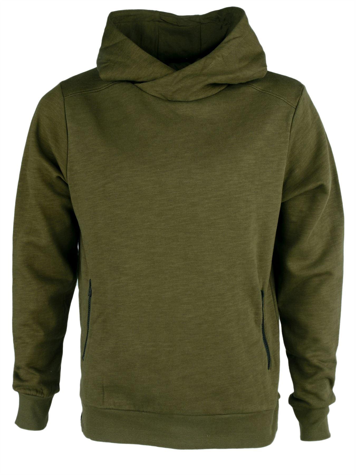 Dissident 'Deancross' Men's Plain Hoody Hoodie Hooded Cowl Neck ...