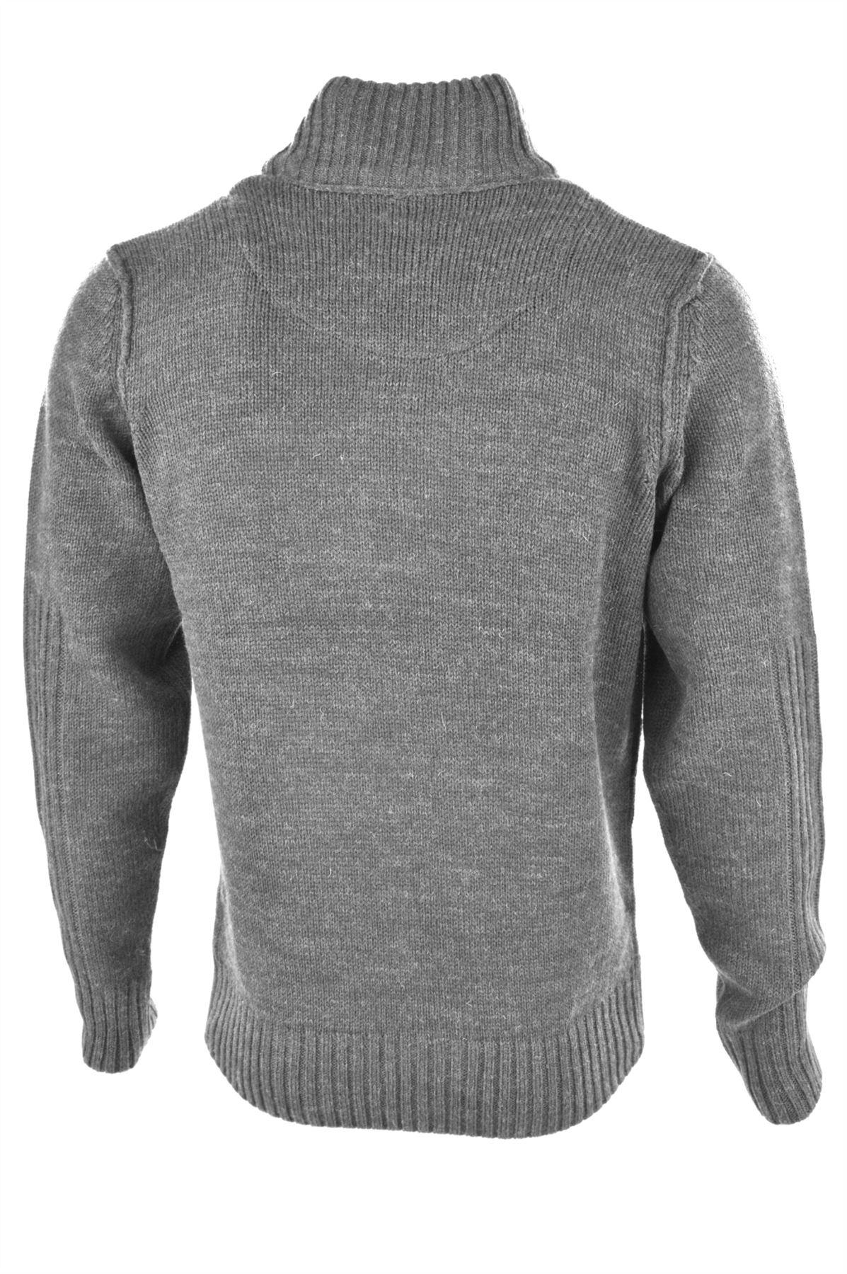 Kensington Dock Men's 'Someries' Funnel Neck Knitwear Sweatshirt Jumper