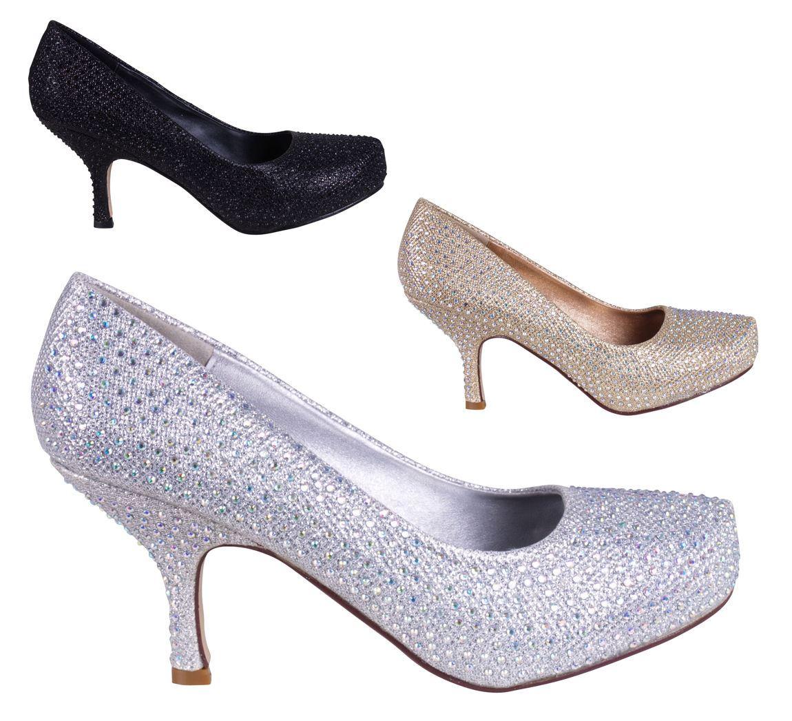Zapatos Tacon Bajo De Fiesta