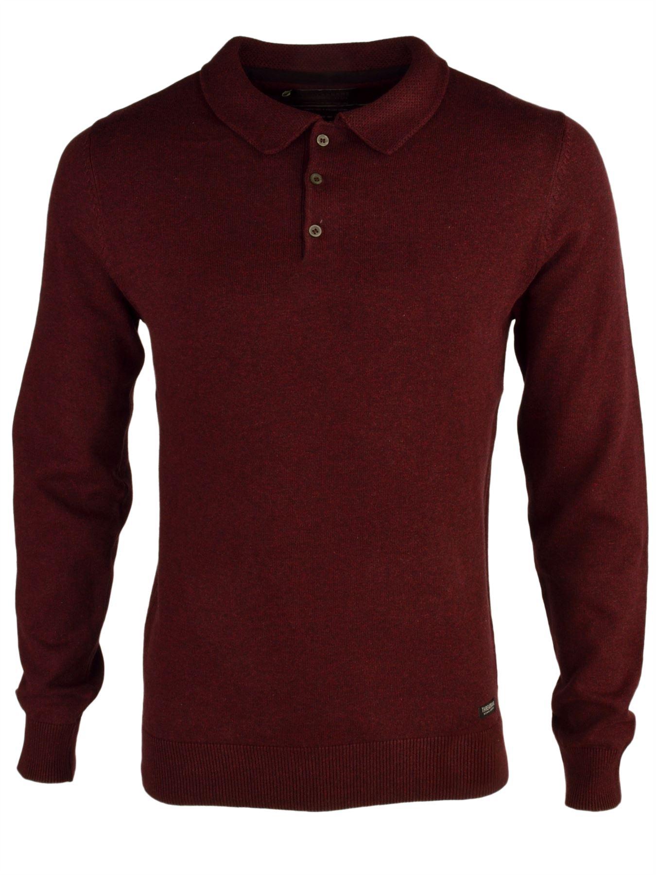 Threadbare 39 harlin 39 men 39 s lightweight knitted long sleeve for Men s lightweight long sleeve polo shirts