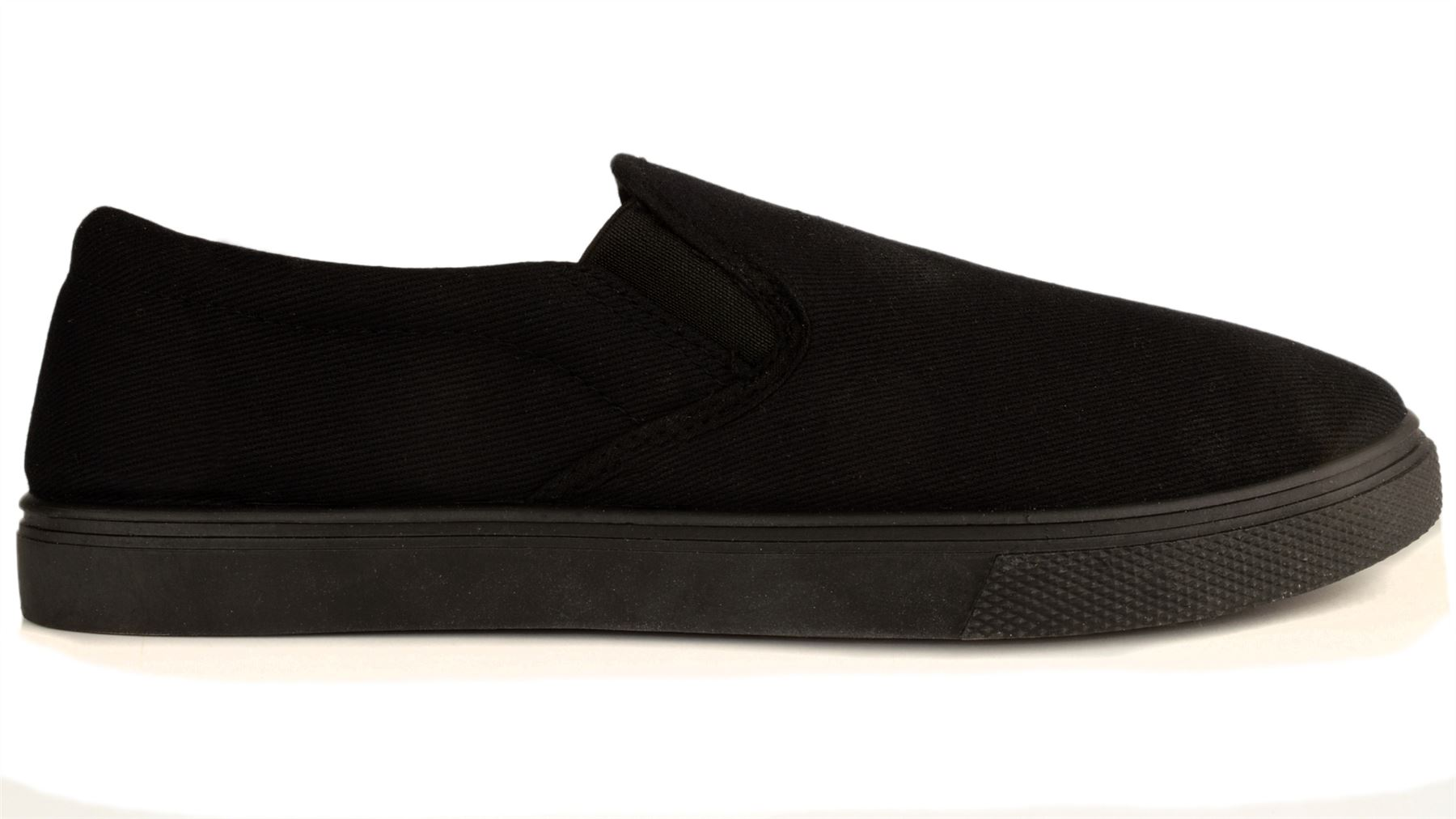 s slip on casual canvas trainers pumps plimsolls
