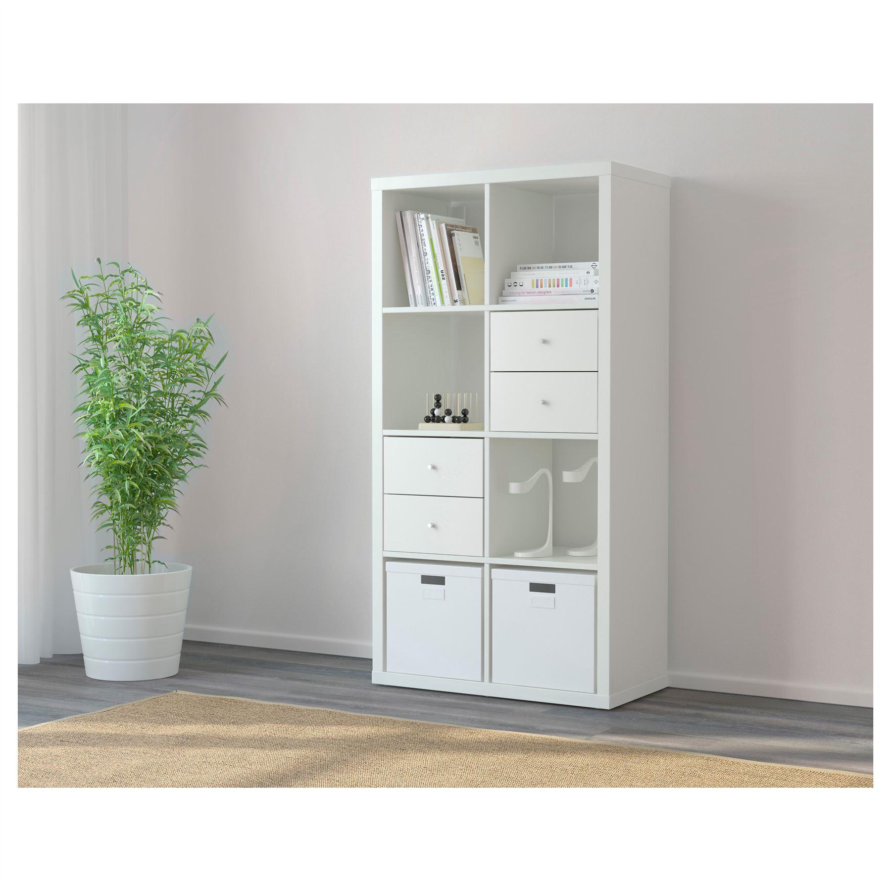 Ikea kallax 8 cube storage bookcase rectangle shelving for Ikea shelf white