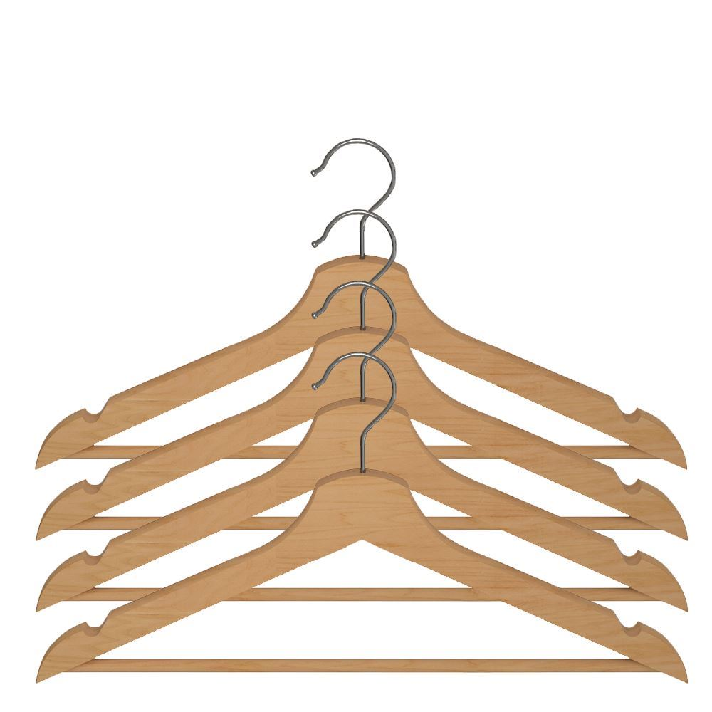 Ikea bumerang wooden clothes hangers new wood natural for Ikea clothes hangers