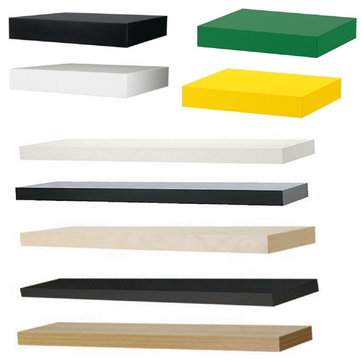 Ikea Lack Floating Wall Shelf Display Concealed Mounting