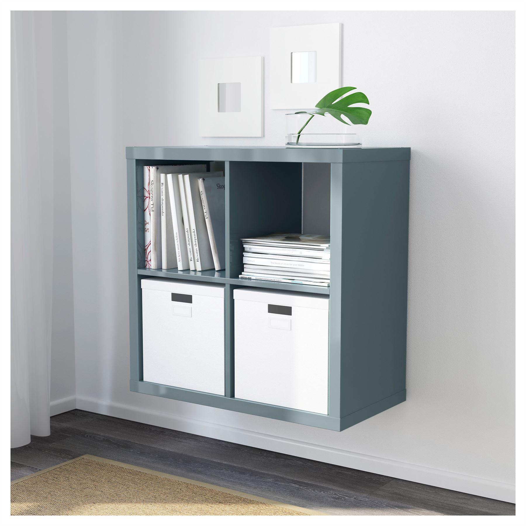 Ikea kallax 4 cube storage bookcase square shelving unit for 4 unit
