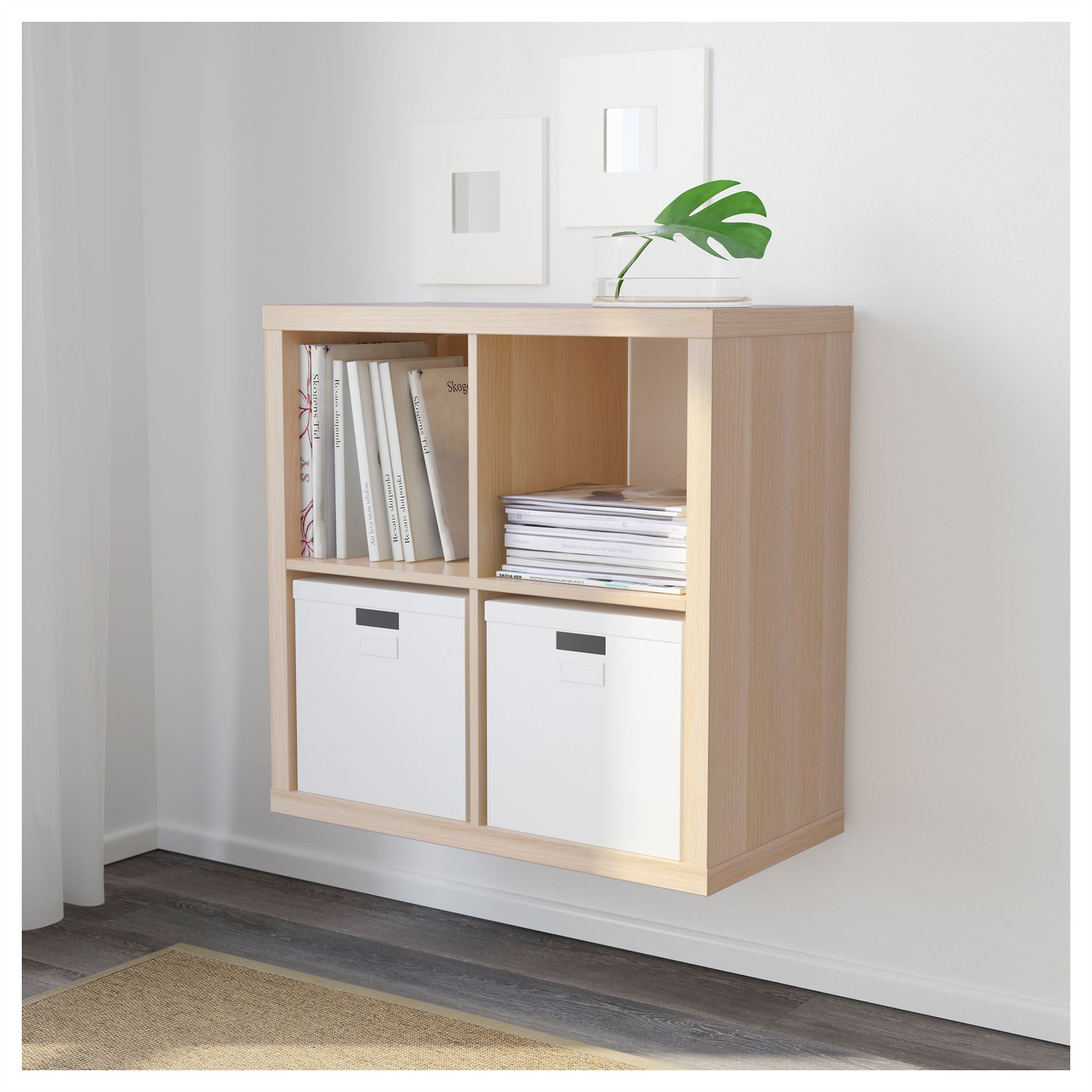 ikea kallax 4 cube storage bookcase square shelving unit. Black Bedroom Furniture Sets. Home Design Ideas
