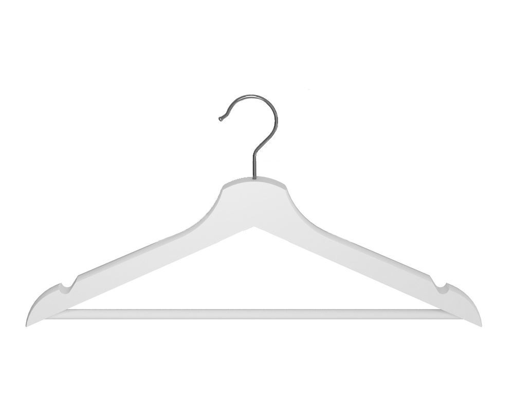 Ikea bumerang wooden clothes hangers new white wood for Hanger for clothes ikea