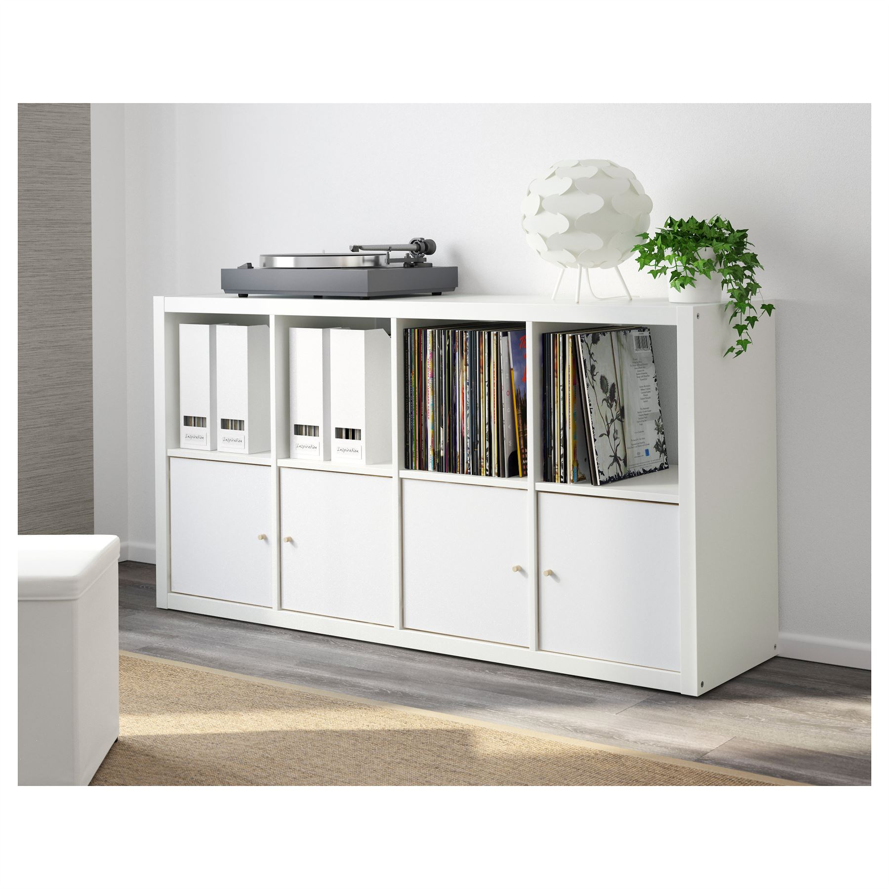 ikea kallax 8 cube storage bookcase rectangle shelving unit white. Black Bedroom Furniture Sets. Home Design Ideas