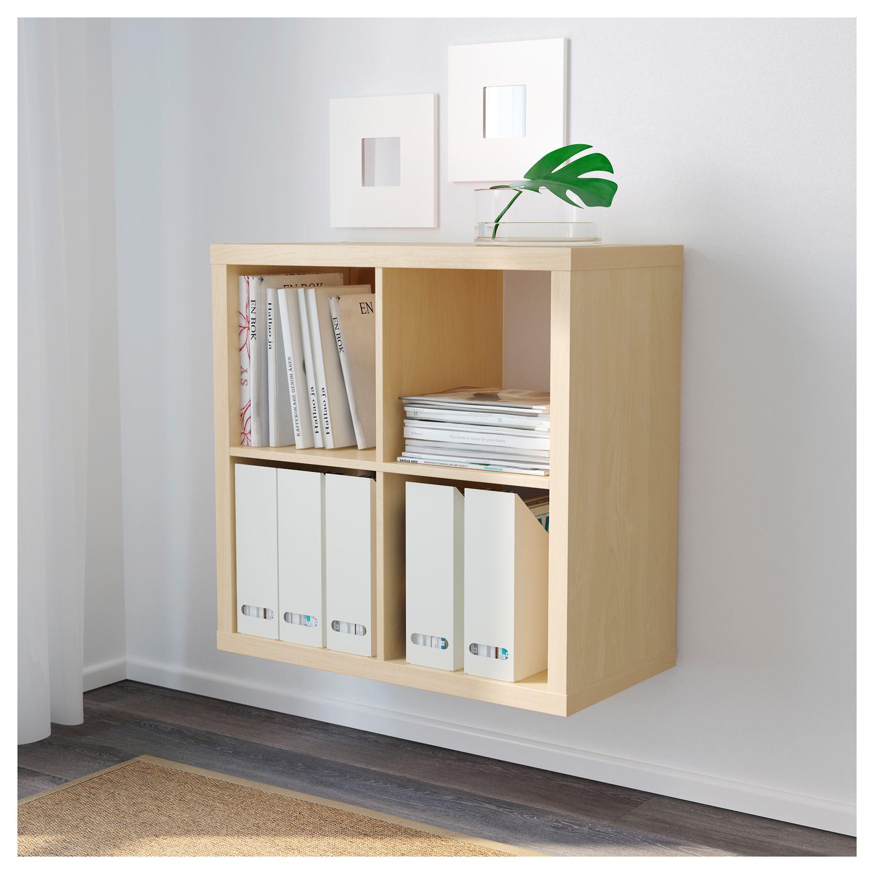 ikea kallax 4 cube storage bookcase square shelving unit various colours. Black Bedroom Furniture Sets. Home Design Ideas