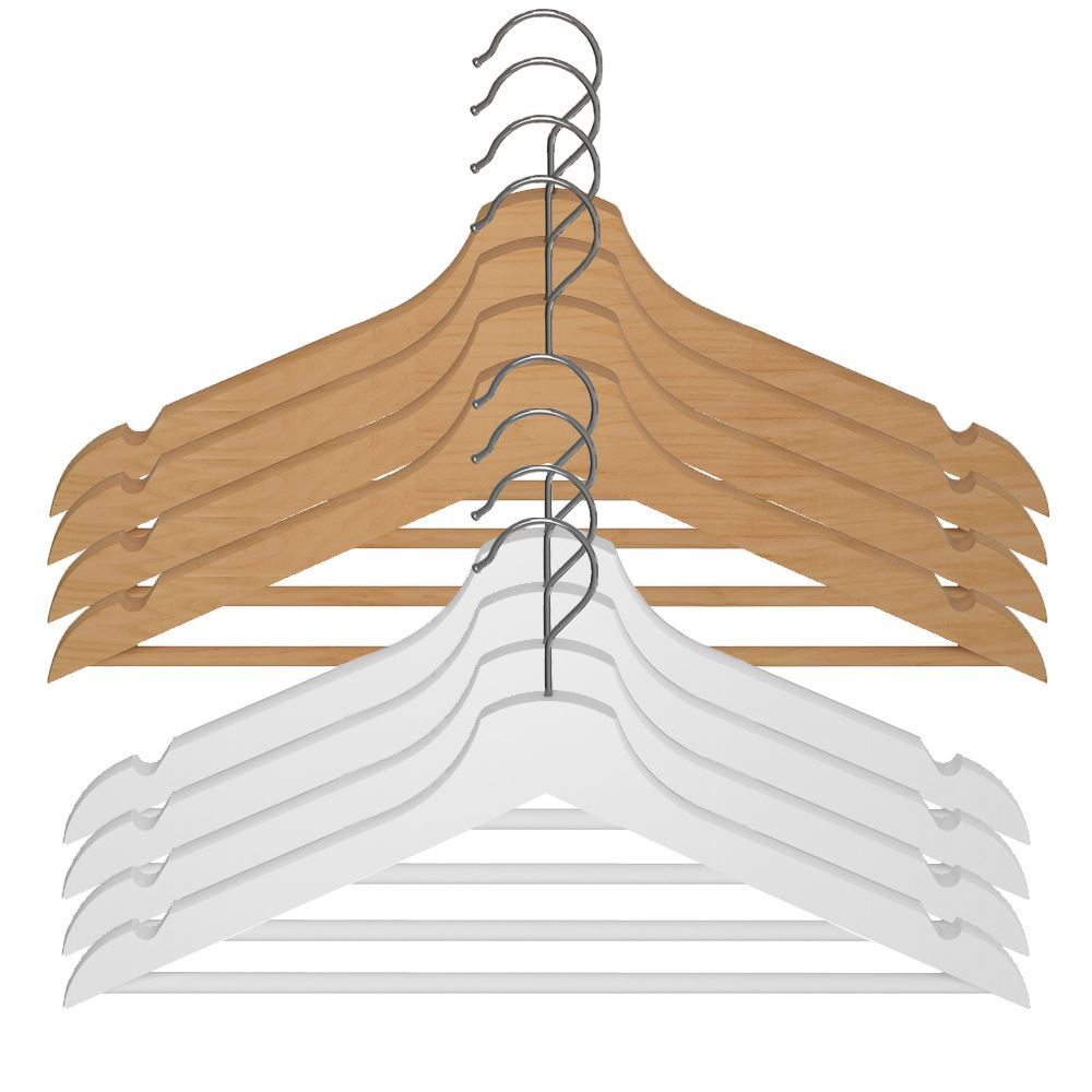 ikea bumerang wooden clothes hangers new natural white wood lot ebay. Black Bedroom Furniture Sets. Home Design Ideas