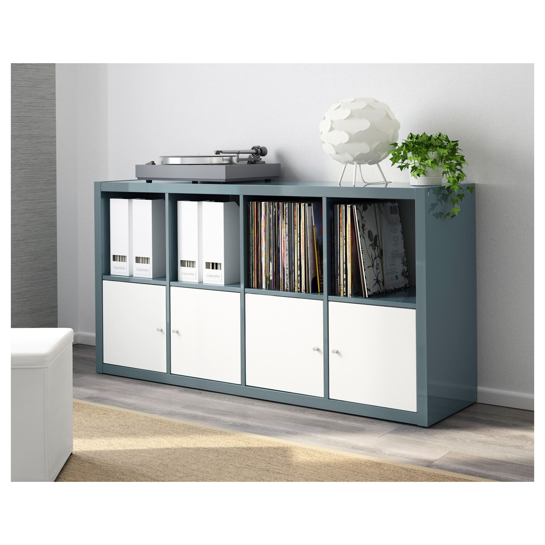 ikea kallax 8 cube storage bookcase rectangle shelving unit various colours ebay. Black Bedroom Furniture Sets. Home Design Ideas