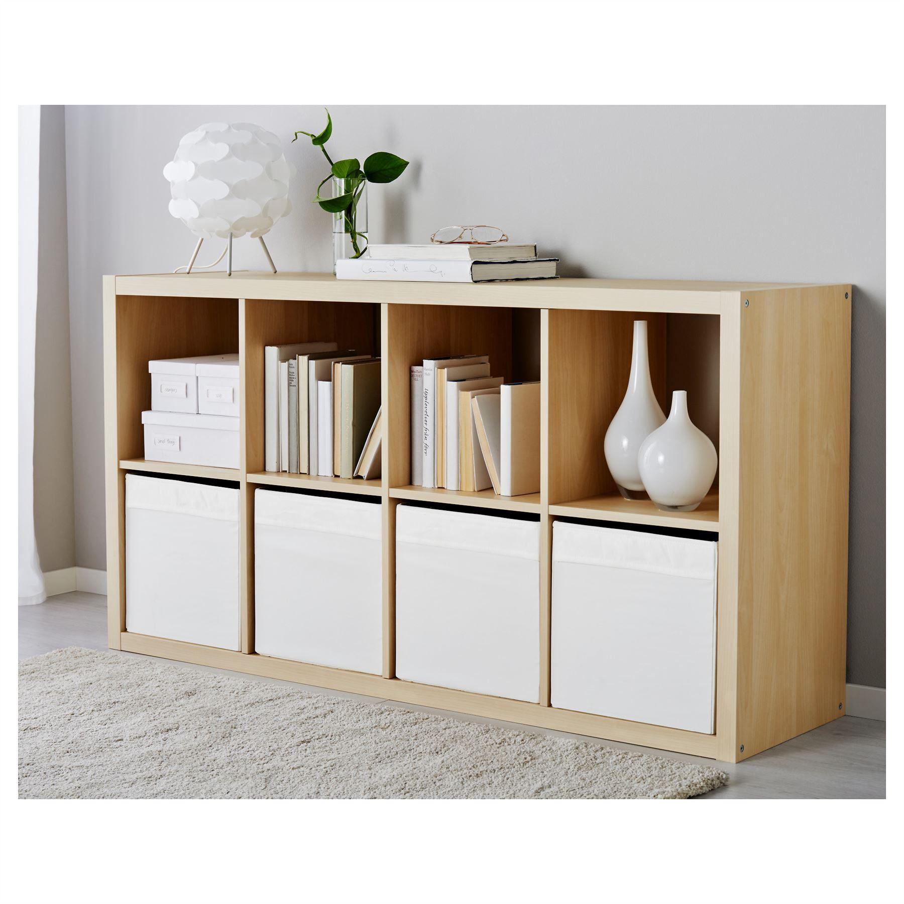 ikea drona box fabric storage kallax shelving magazine toys books white x3 ebay. Black Bedroom Furniture Sets. Home Design Ideas