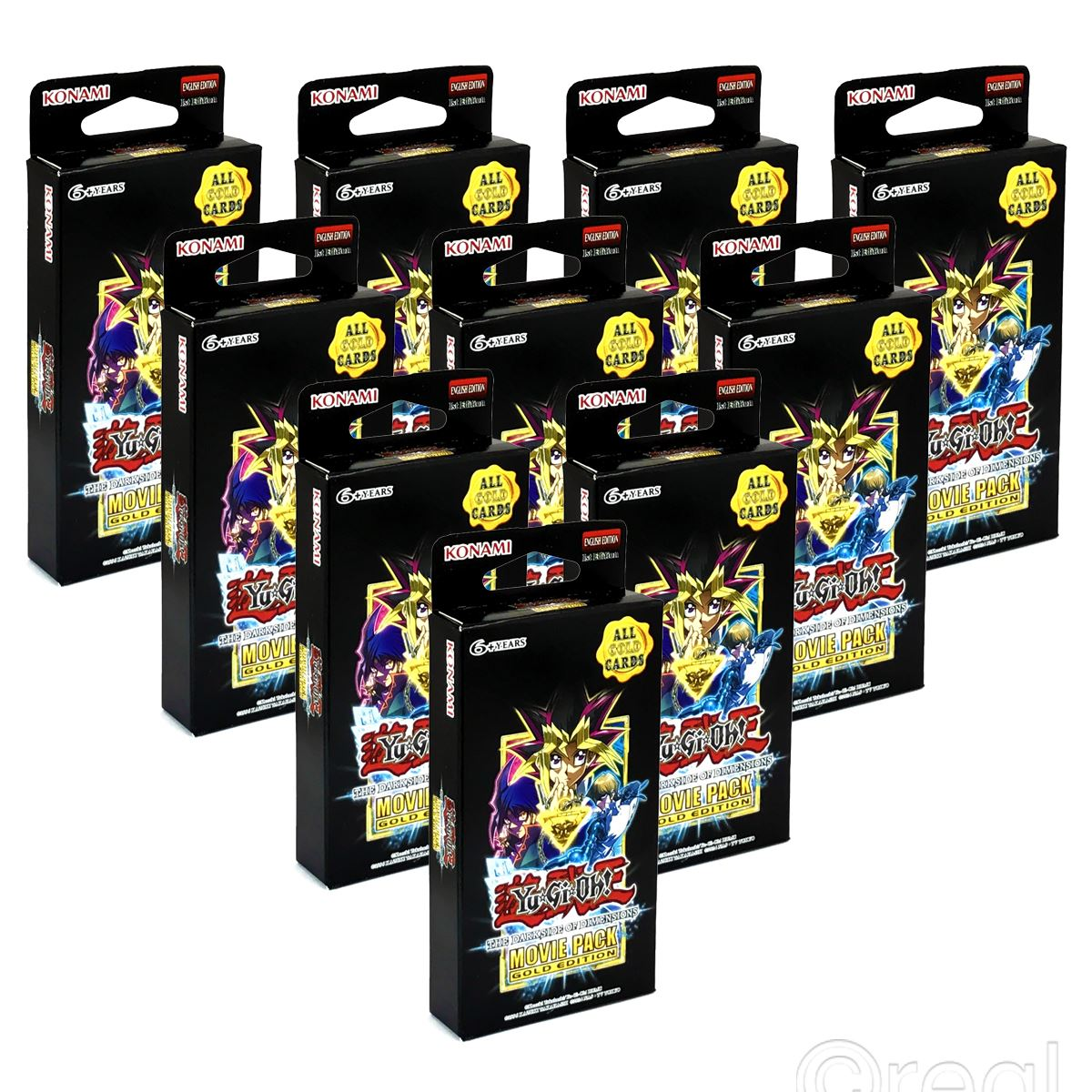 new 10 packs yu gi oh darkside of dimensions movie pack gold