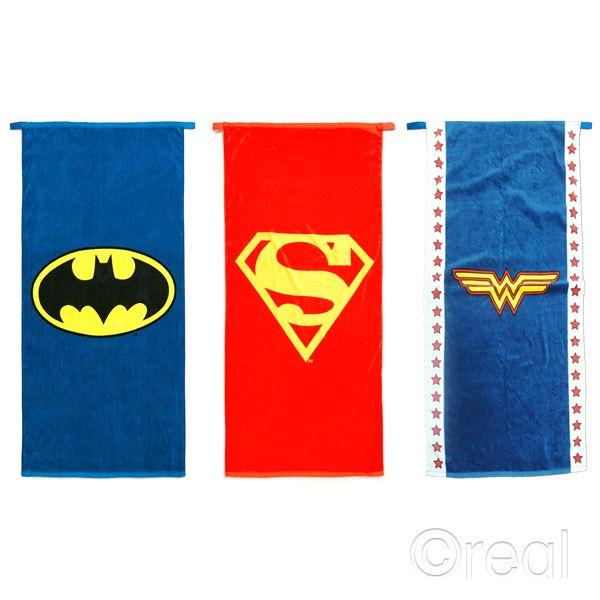 New Dc Comics Batman Wonder Woman Or Superman Logo Cape Towel Beach Official Ebay