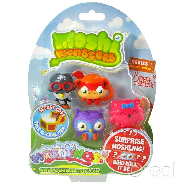 New Moshi Monsters Moshlings Series 1 3 4 5 6 7 8 9 10 Or 11 5 Figure Pack Gift