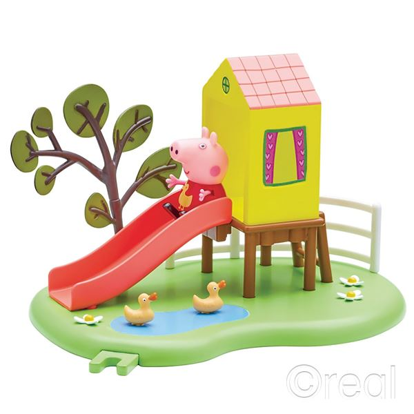 New-Peppa-Pig-Outdoor-Fun-Swing-Or-Fun-Slide-Playset-amp-Figure-Official