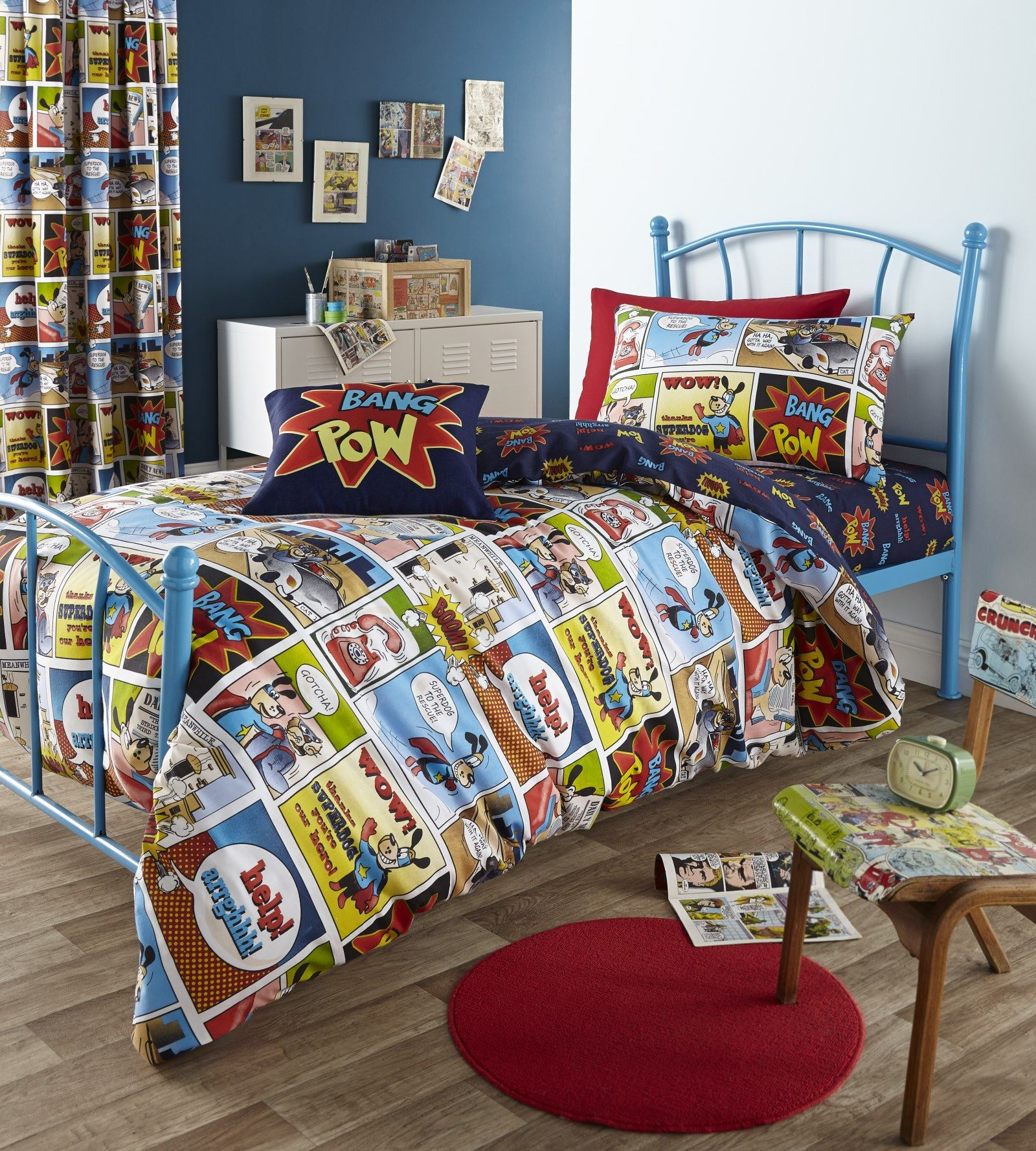 Comic Strip Kids Childrens Boys Geek Super Hero Bedding Duvet Cover ...