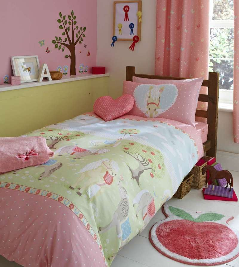 m dchen kinder bettw sche single duvet cover rosa lila herzen schmetterlinge ebay. Black Bedroom Furniture Sets. Home Design Ideas