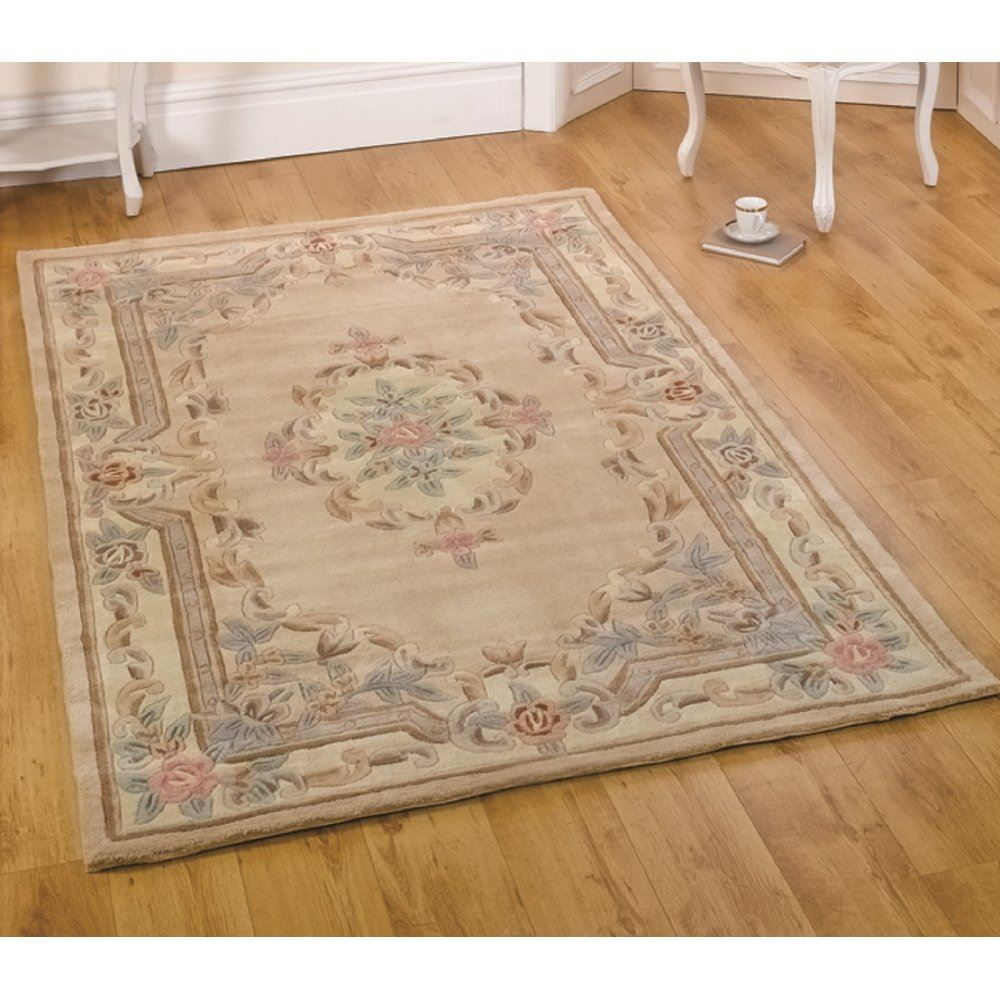 Lotus Premium Chinese Aubusson Wool Rug In Various Shapes