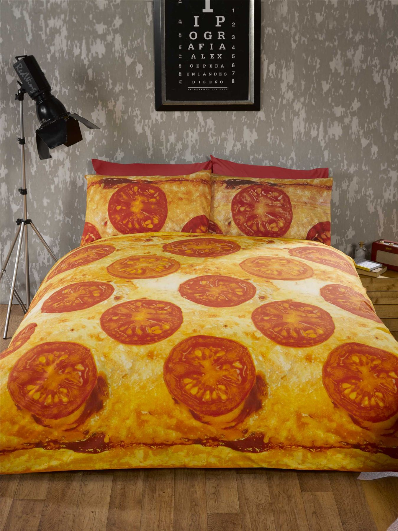 Pizza Bedding Fun Teenager Student Bedding Photo Print ...