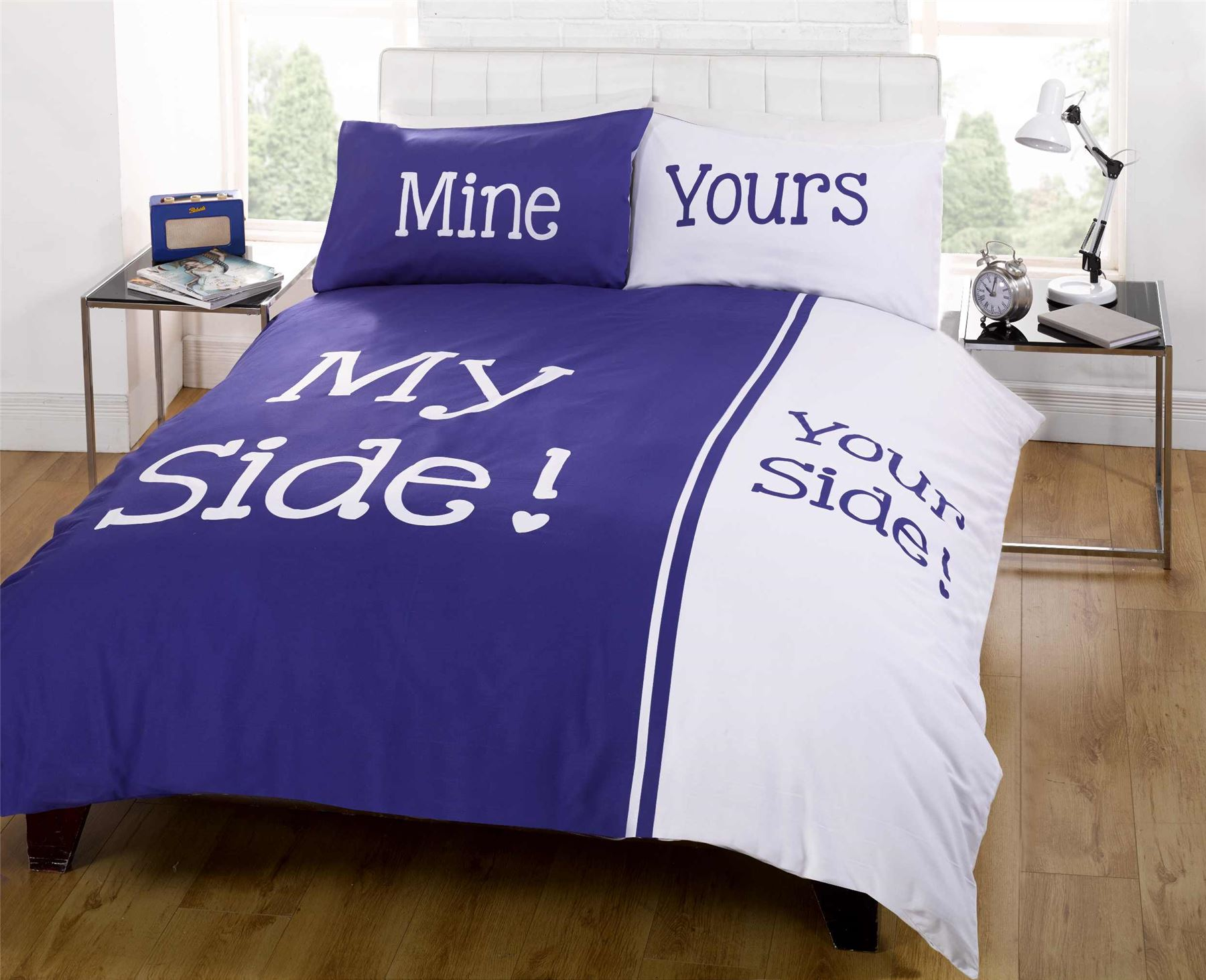 Rapport Panel Print Navy Blue My Side Your Side Couple