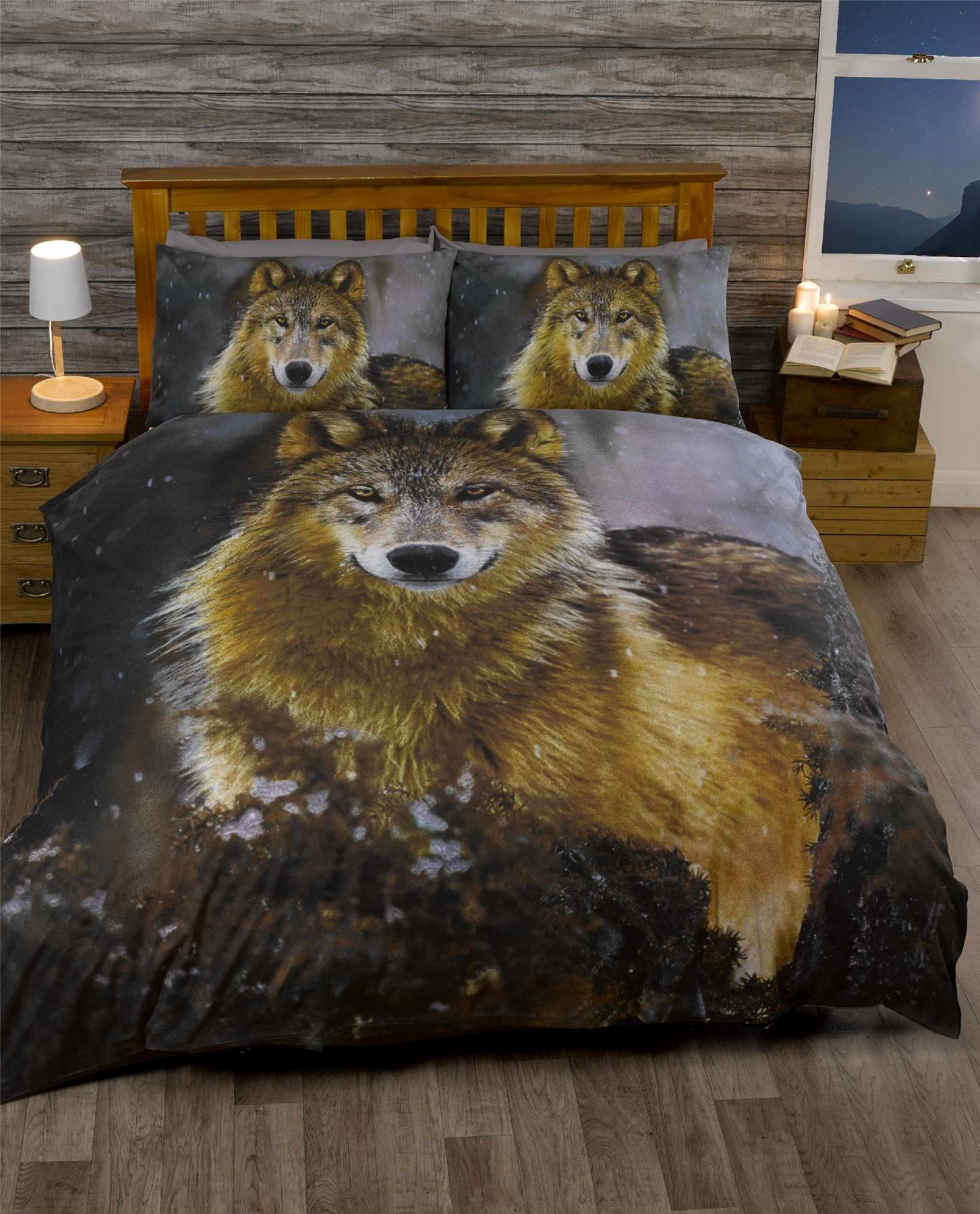 Animal Theme Bedding Wolf Horse Tiger Monkey Cow Single