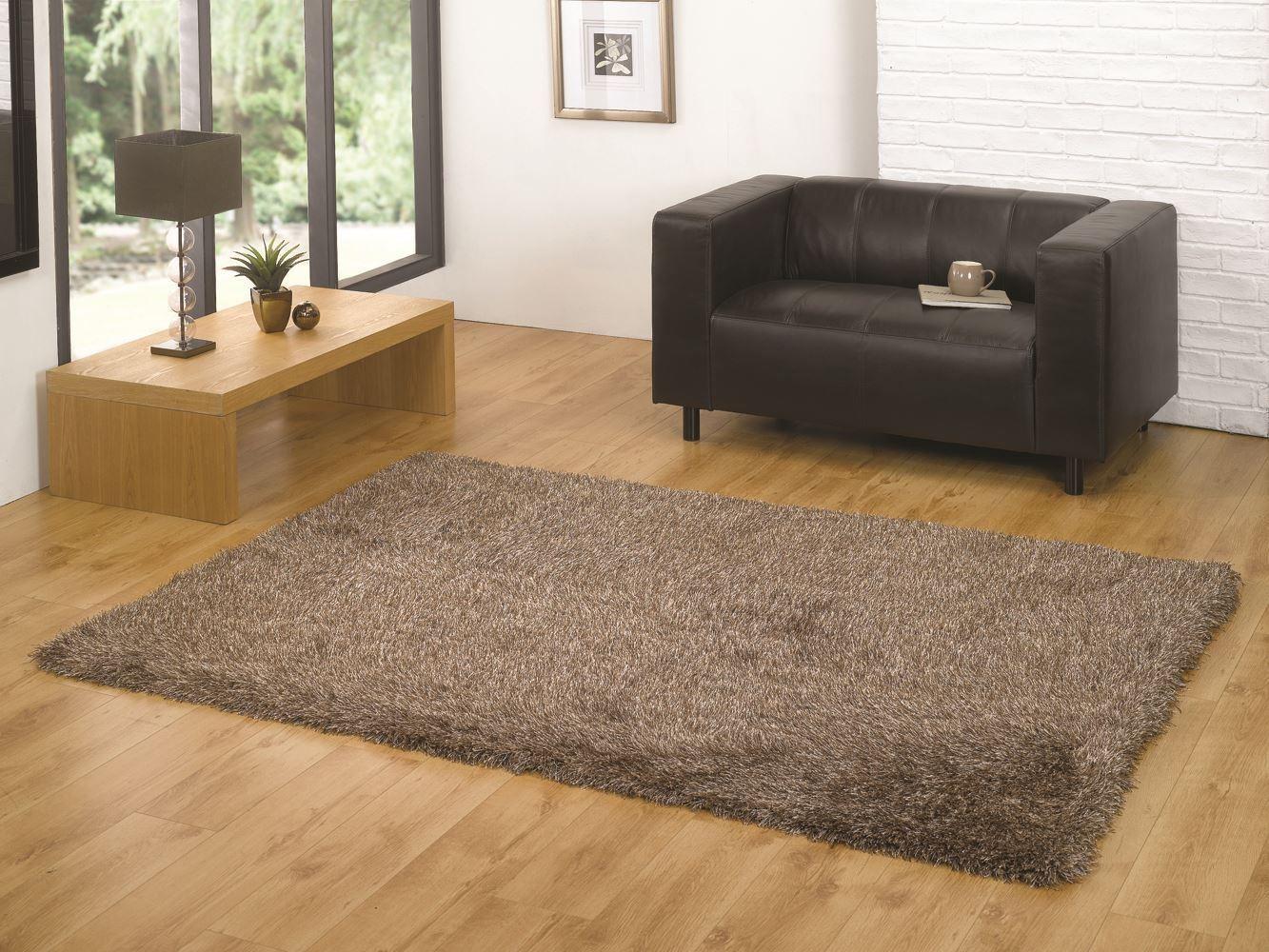 santa cruz tapis poil long profond epais moelleux rond rectangle flair tapis ebay. Black Bedroom Furniture Sets. Home Design Ideas