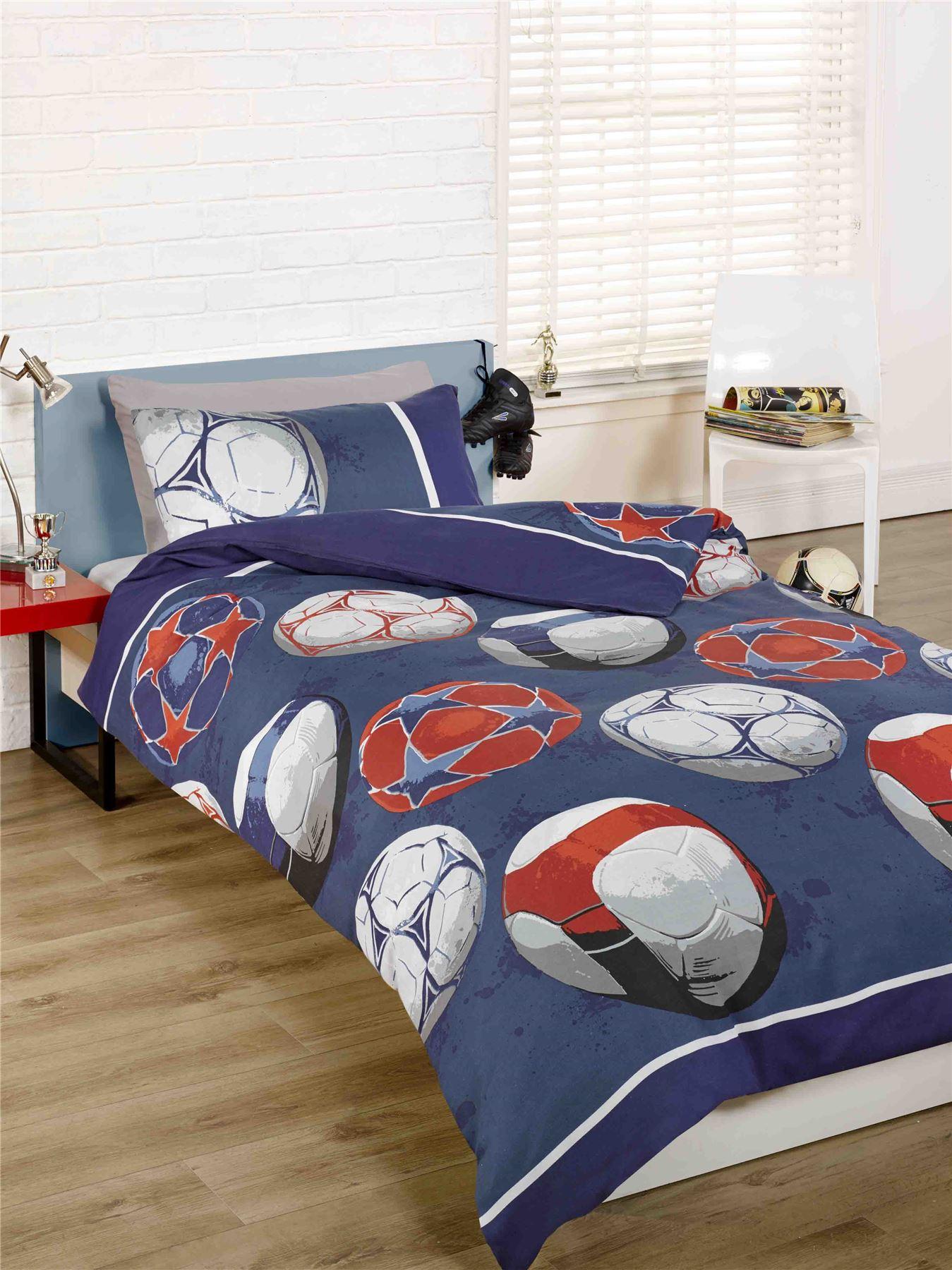 rapport kidz ropa de cama f tbol para ni os juego de. Black Bedroom Furniture Sets. Home Design Ideas