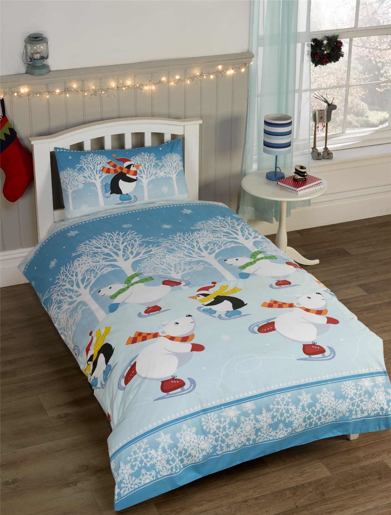 Kids Christmas Bedding Duvet Cover Bright Colourful
