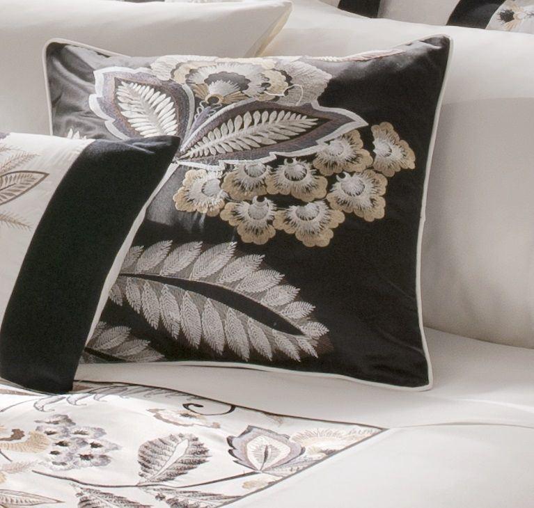 neue shrewsbury schwarz und wei gold bestickte bettw sche quilt set bettbezug ebay. Black Bedroom Furniture Sets. Home Design Ideas