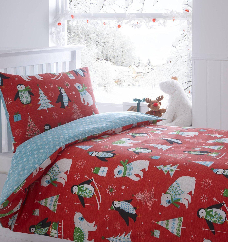 kids christmas bedding duvet cover bright colourful. Black Bedroom Furniture Sets. Home Design Ideas