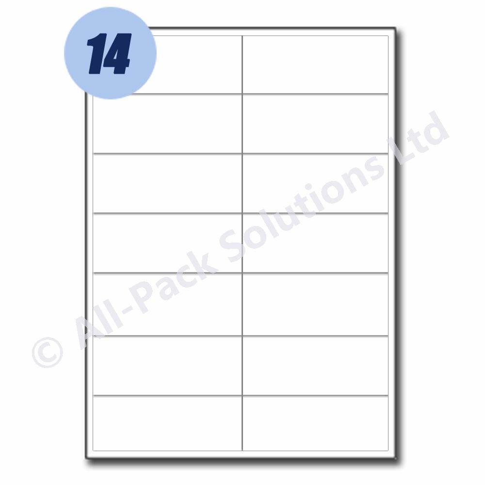 Address Labels Self Adhesive Sticky A4 Labels- All Sizes
