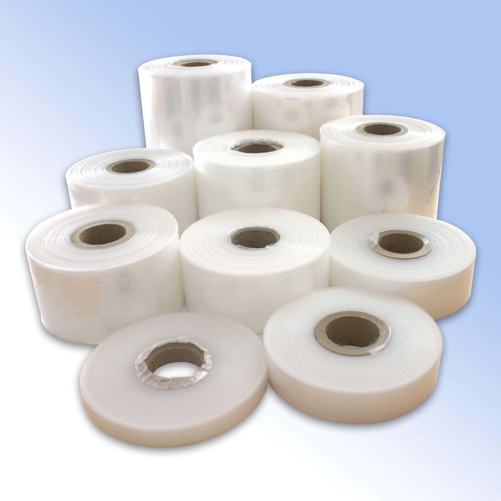 Clear rolls of polythene plastic layflat tubing various