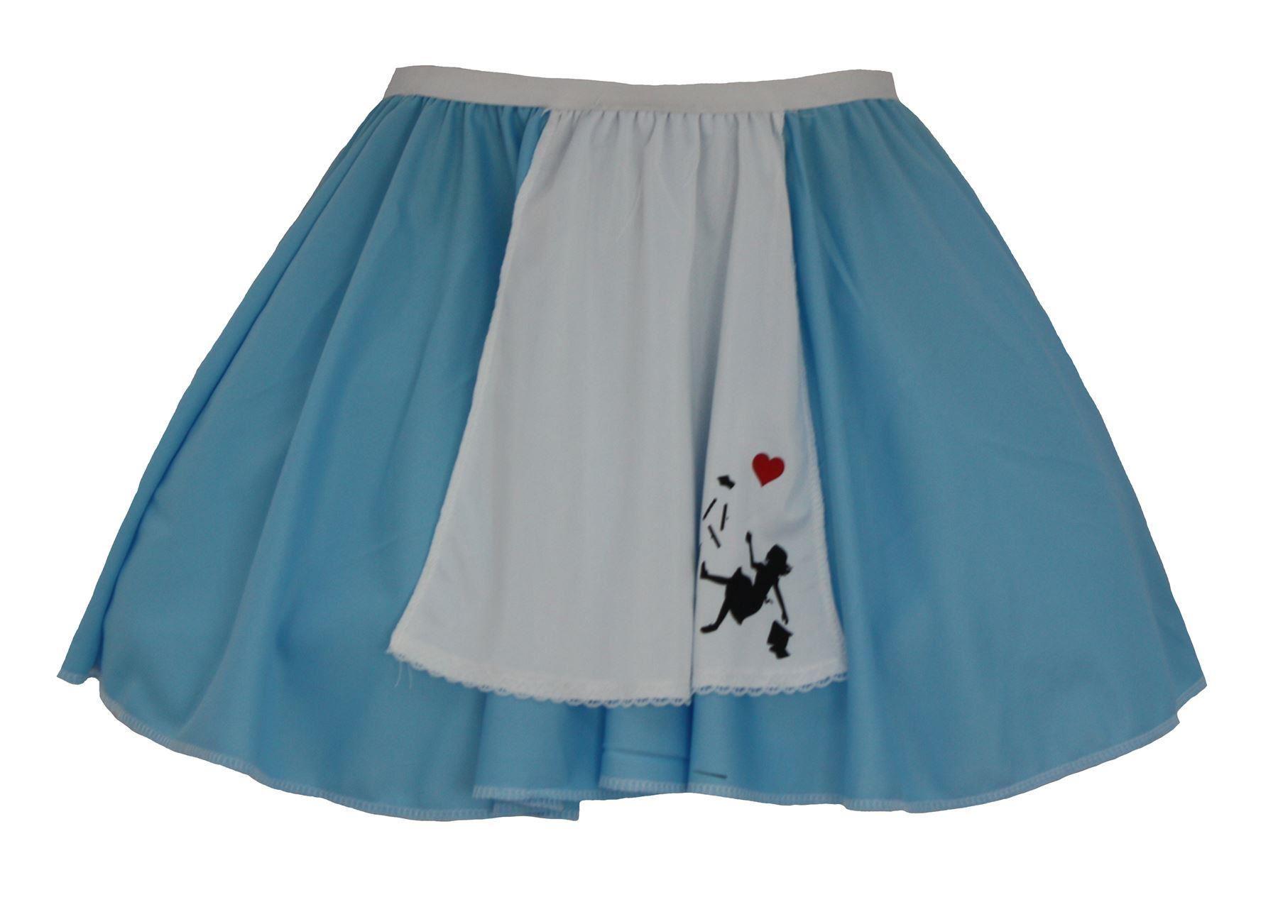 White apron fancy dress - Blue Amp White Alice In Wonderland Apron Skater