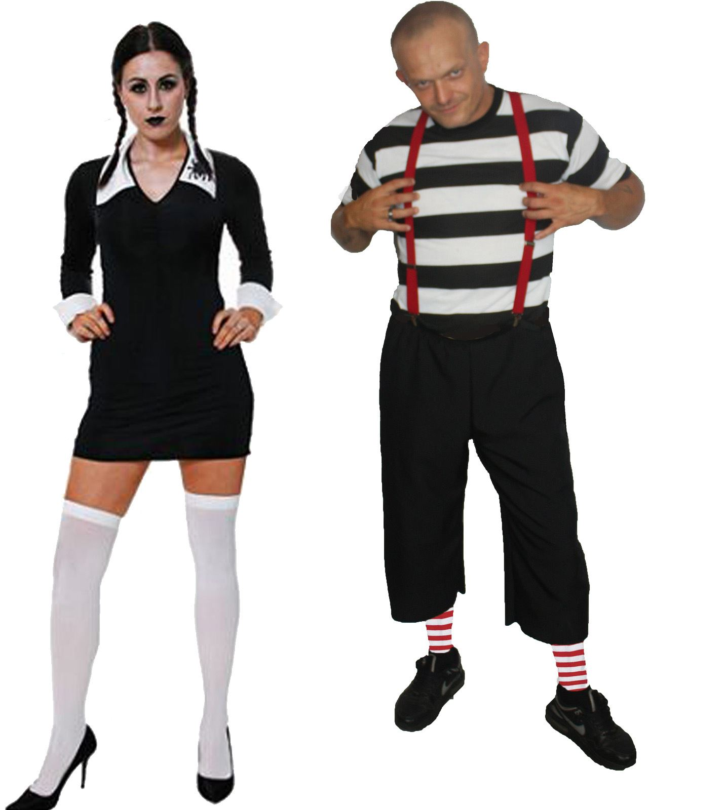 Wednesday Pugsley Addams Family Fancy Dress Halloween T ...