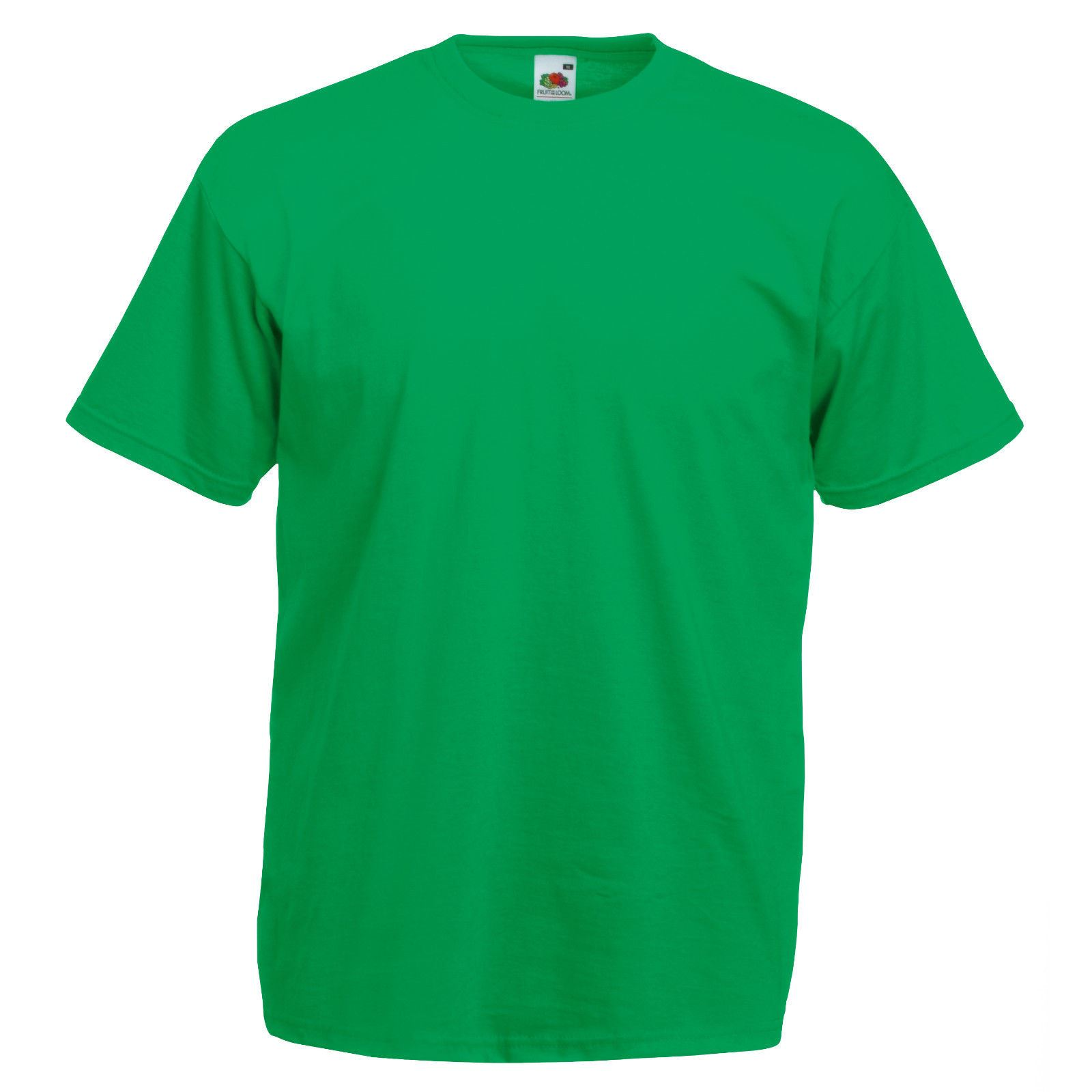 kelly green fruit of the loom mens soft spun t shirt plain. Black Bedroom Furniture Sets. Home Design Ideas