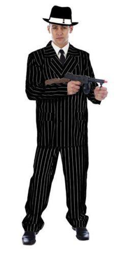 Mans-Pinstripe-Trilby-Fredora-Hat-Mens-Gangster-1920s-30s-UK