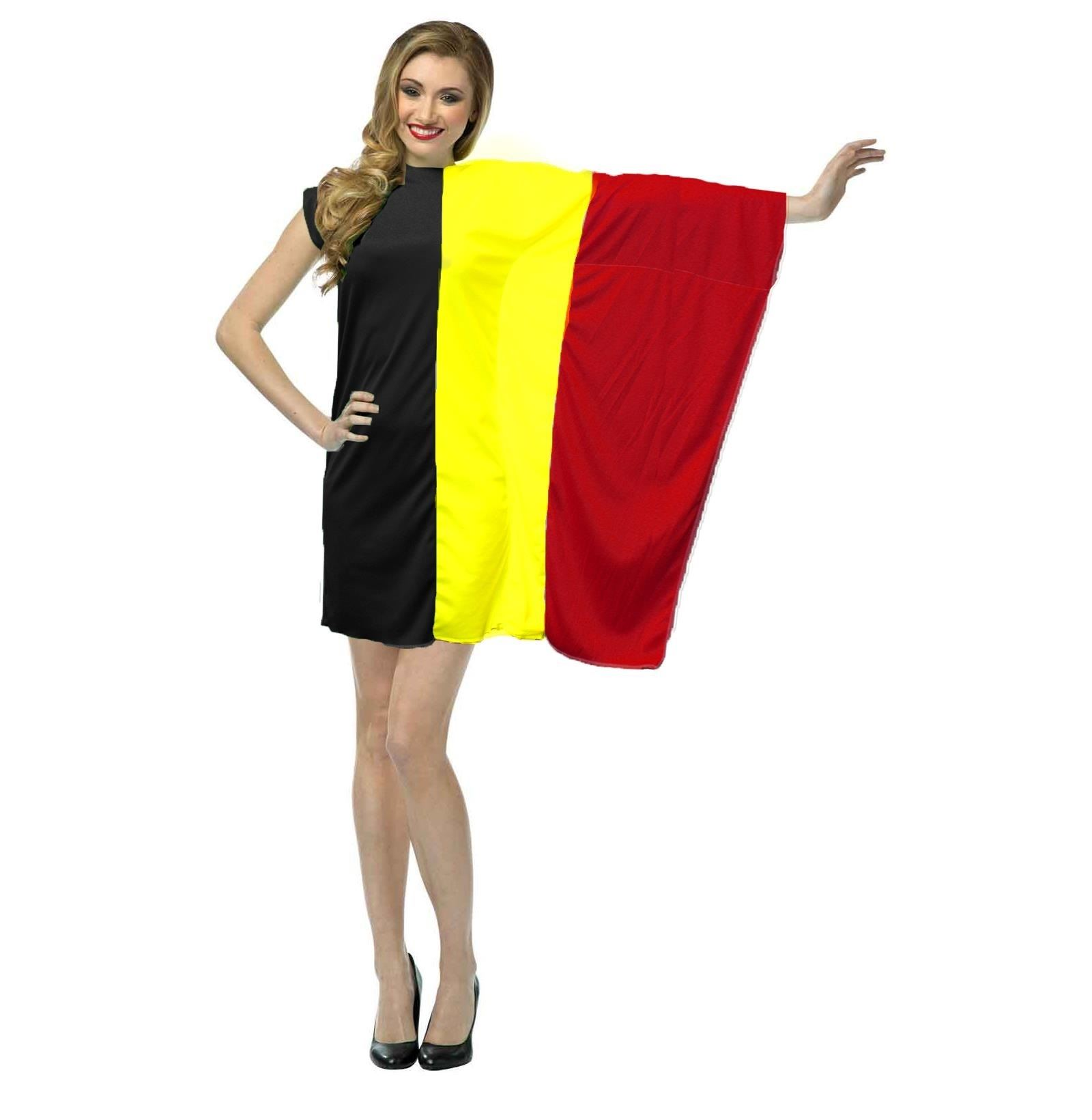 Ladies supporters dress belgian flag fancy dress st - Photo dressing ...