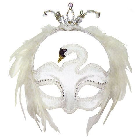 Masquerade ball white and black velvet feather swan eye for Swan mask template