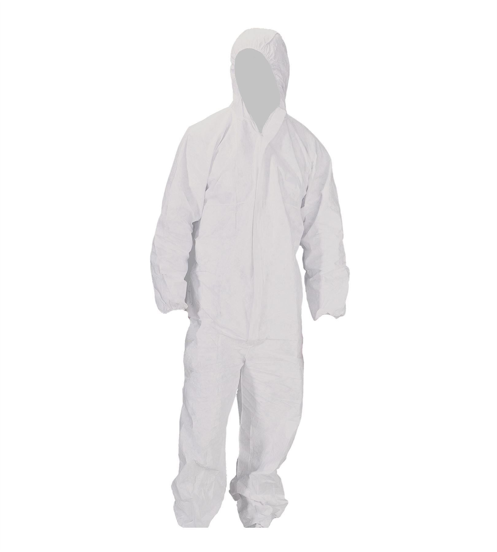 White pinafore apron ebay - White Polyprop Overalls Suit Painting Mechanic Engineer Disposable