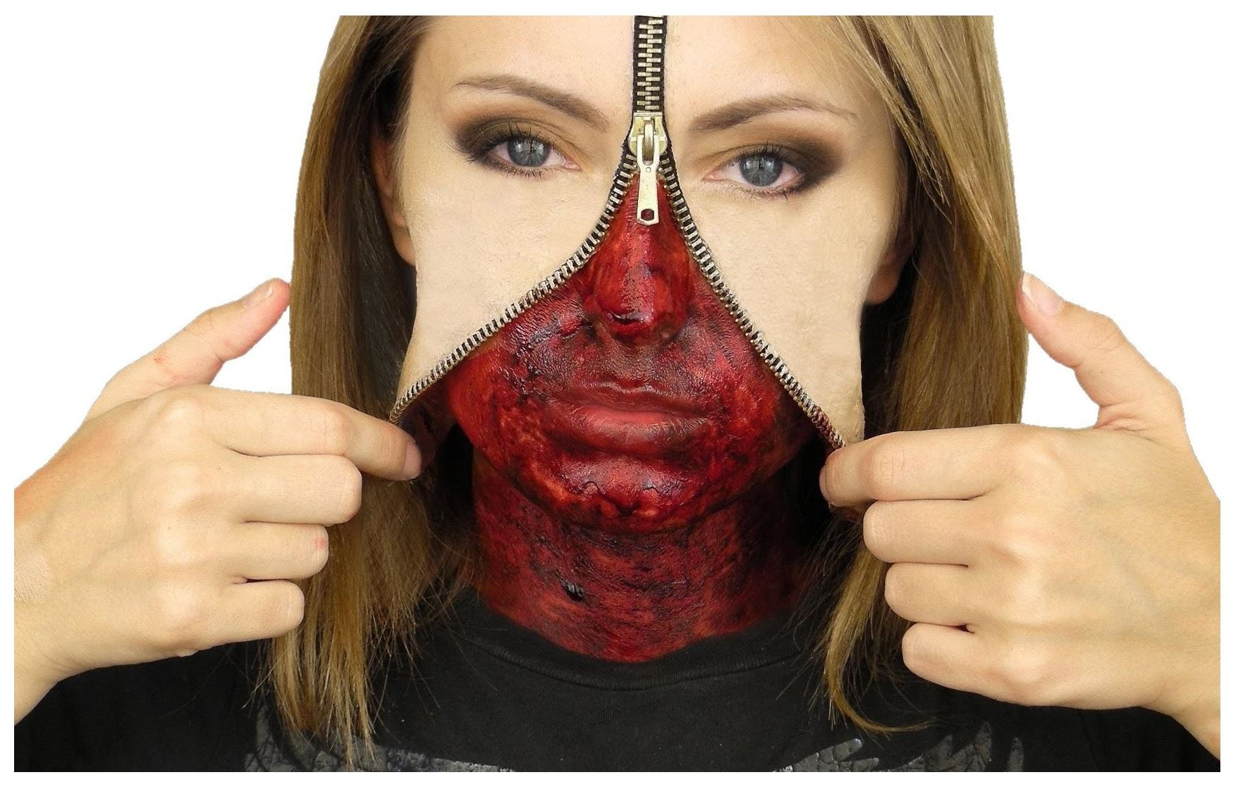 Zipper Face Liquid Latex Set Hollywood Special Effects Halloween ...