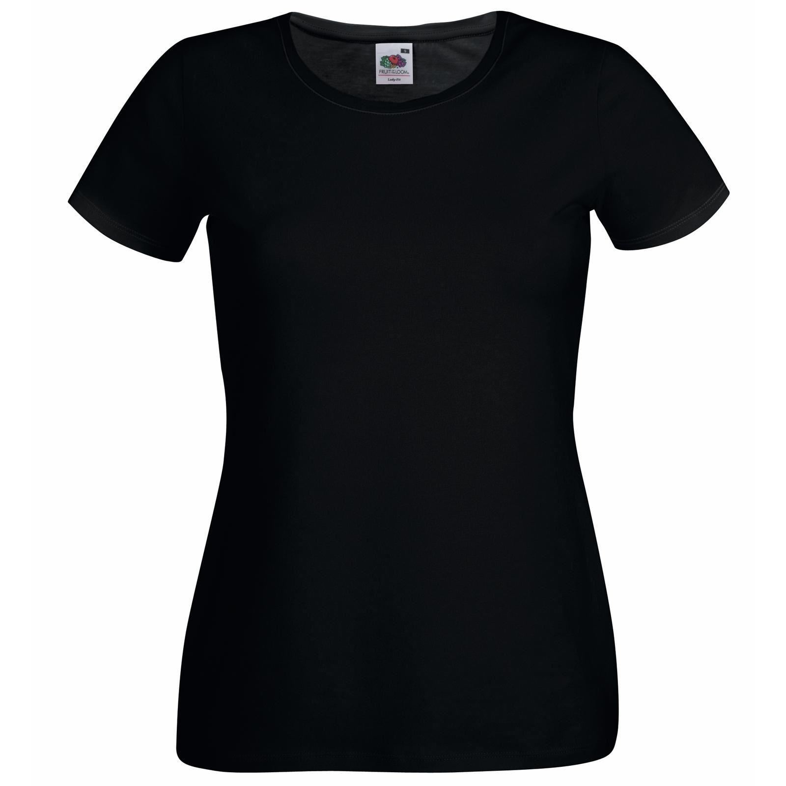 Black fruit of the loom womans soft spun lady fit t shirt for Women s crew t shirts