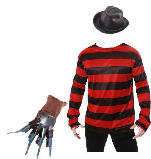 Freddy-Krueger-Costume-Hat-Jumper-Mask-and-Glove-Halloween-Fancy-Dress