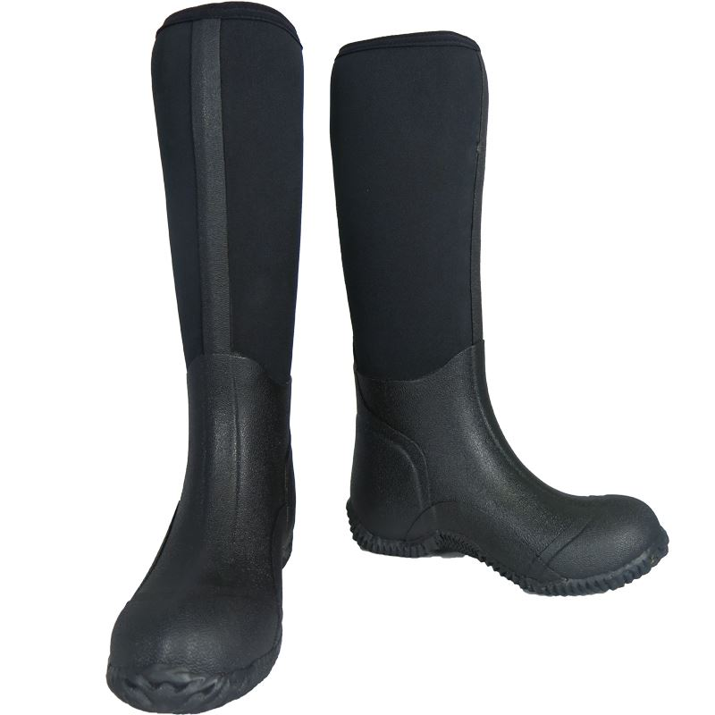 how to put on neoprene rubber boots