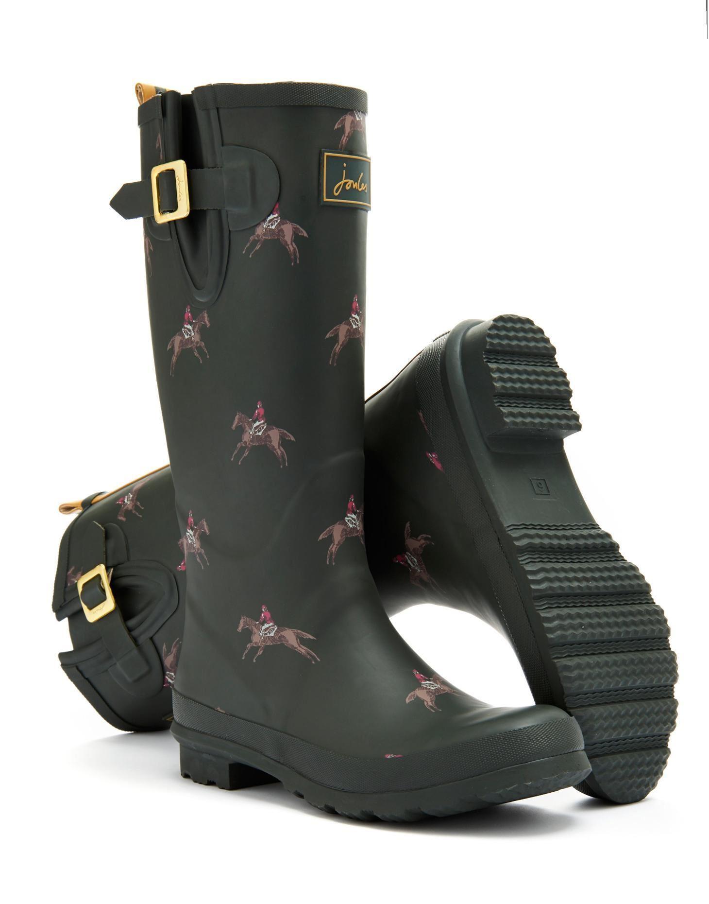 Joules Design Print Women Waterproof Fashion Rain Festival ...