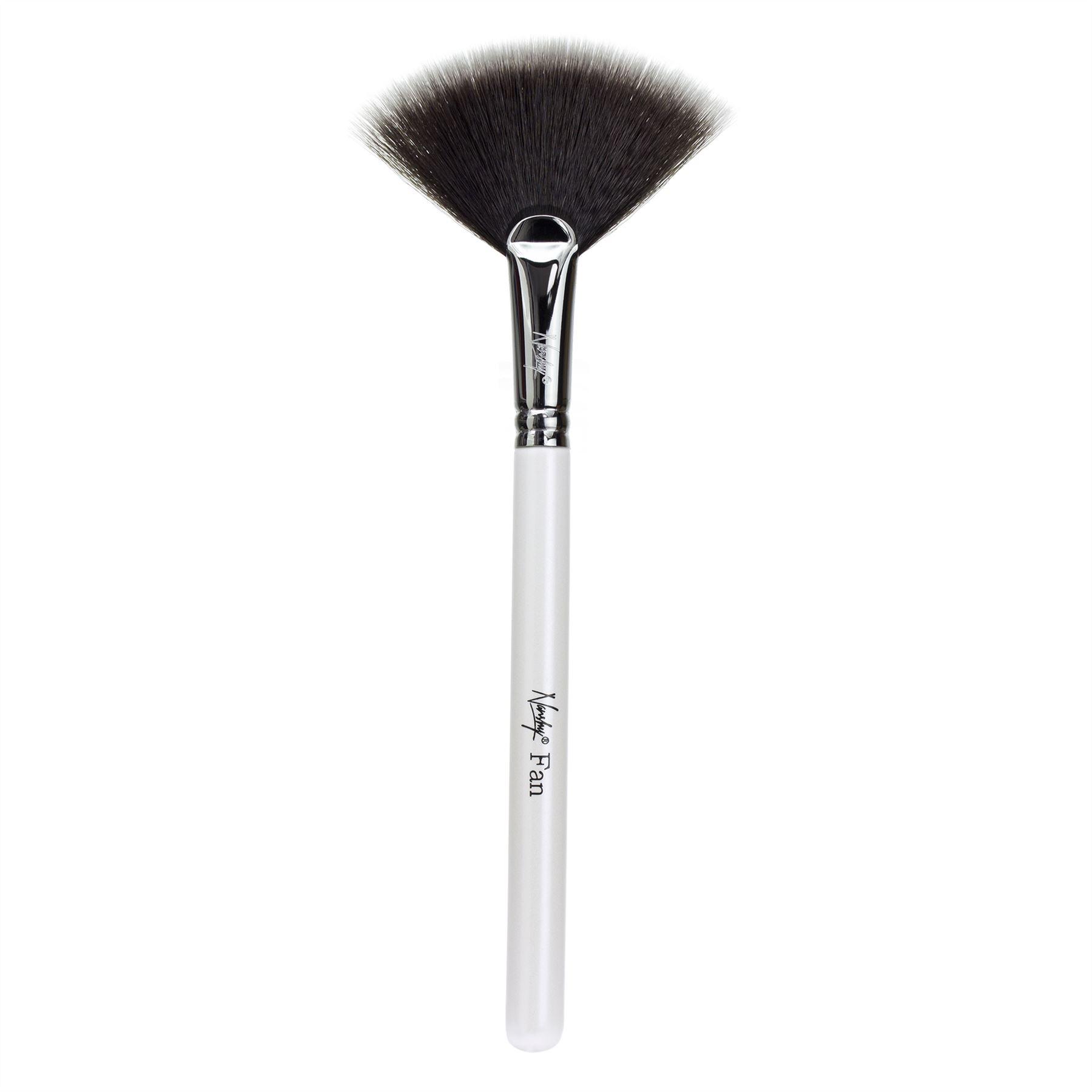fan makeup brush. nanshy-fan-makeup-brushes-soft-synthetic-taklon-bristles- fan makeup brush t