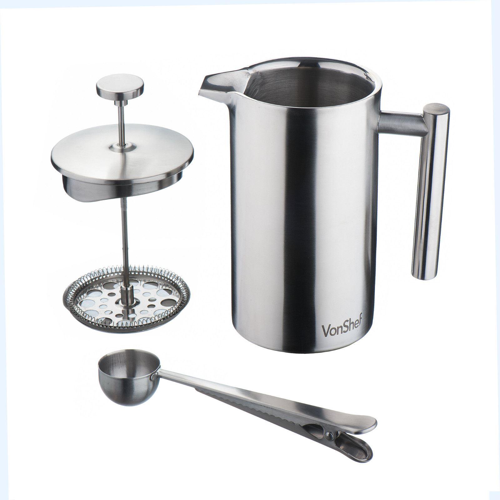 VonShef Edelstahl Kaffeebereiter Filter Kaffeemaschine + ... | {Kaffeebereiter 65}